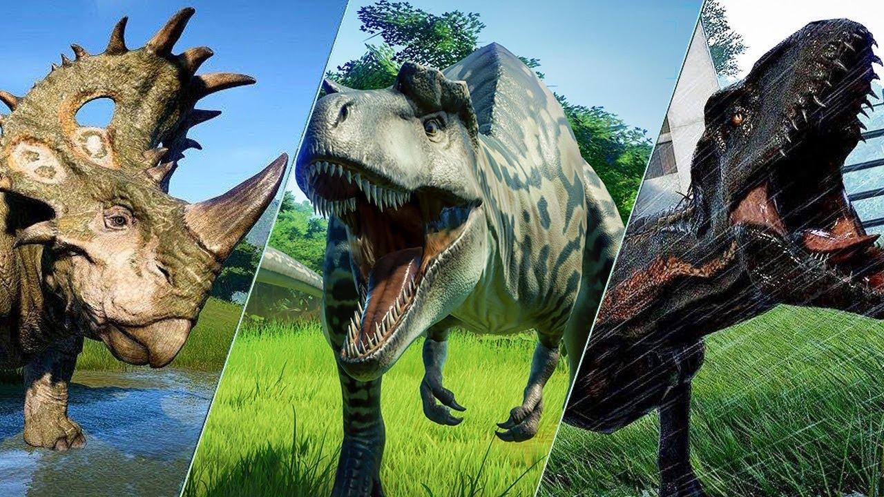ALL 62 DINOSAURS - Jurassic World Evolution - YouTube