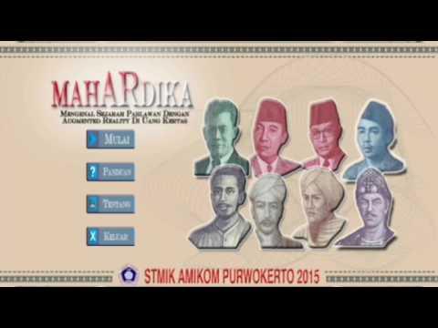 Aplikasi MahARdika - Mengenal Sejarah Pahlawan Melalui Mata Uang Kertas Indonesia (AR)