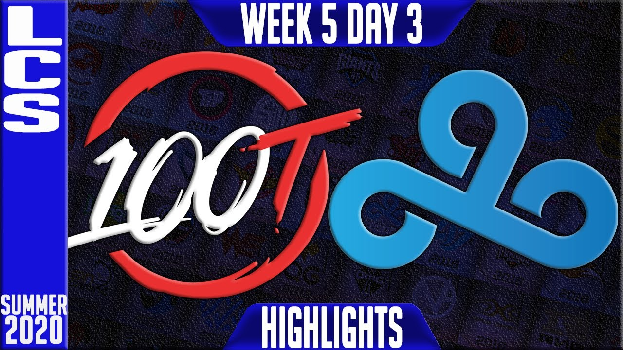 100 vs C9 Highlights | LCS Summer 2020 W5D3 | 100 Thieves vs Cloud9