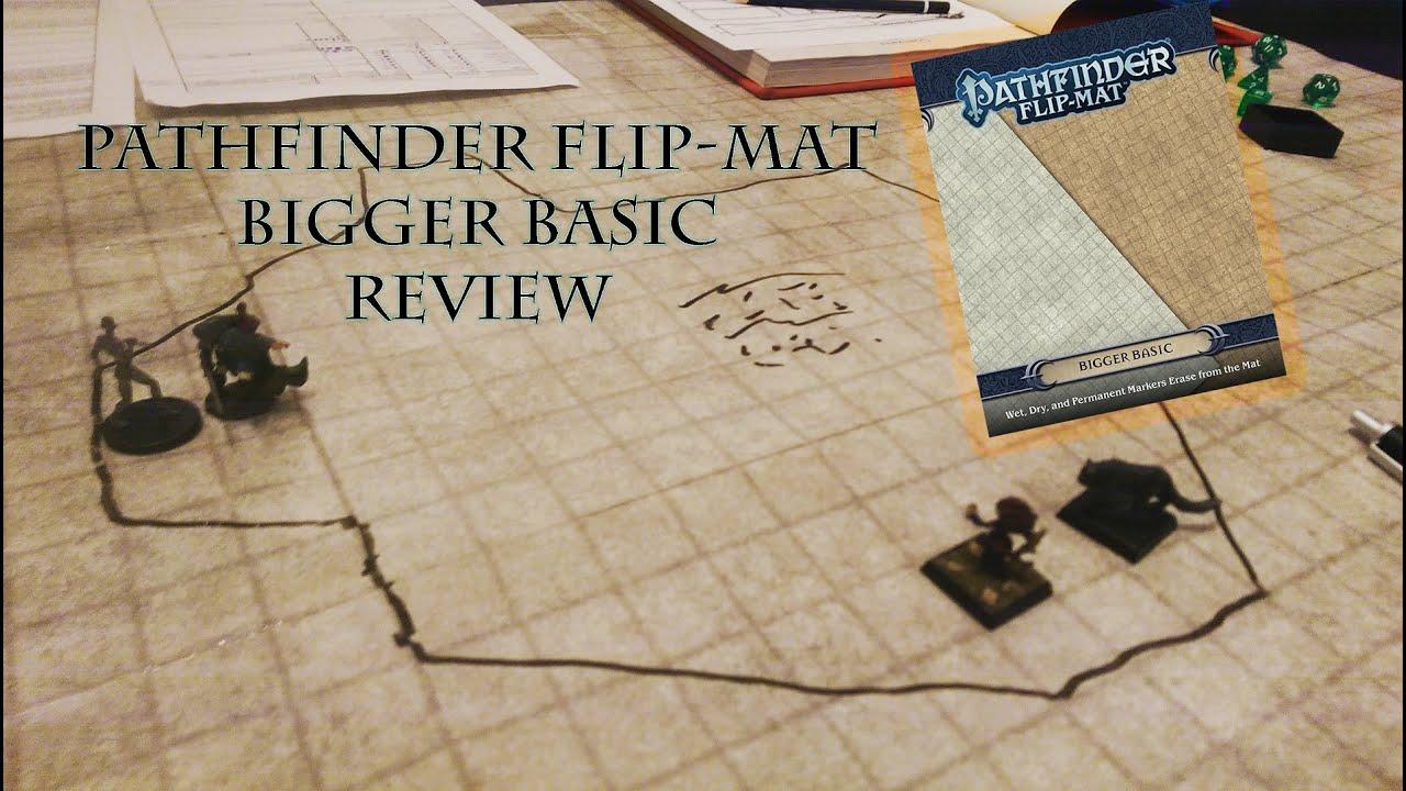 Pathfinder Flip Mat Bigger Basic Review Redshirts Youtube