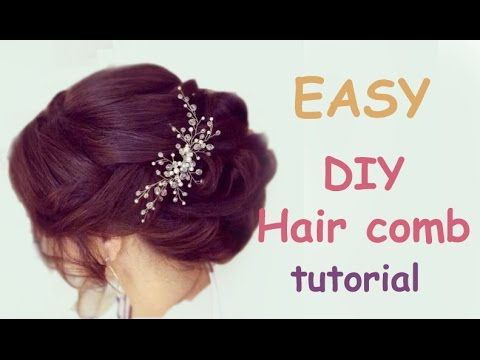 Easy diy bridal hair vine comb headpiece tutorial hair accessory easy diy bridal hair vine comb headpiece tutorial hair accessory solutioingenieria Image collections