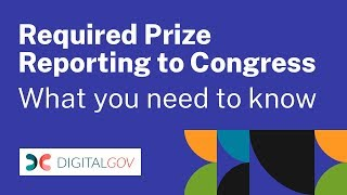 Required Prize Reporting to Congress: What You Need to Know