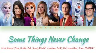 Download lagu Elsa, Anna, Kristoff & Olaf - Some Things Never Change Color Coded Lyrics Video 가사 |ENG|