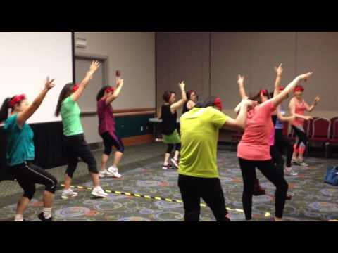 Chinese Teachers Zumba dance