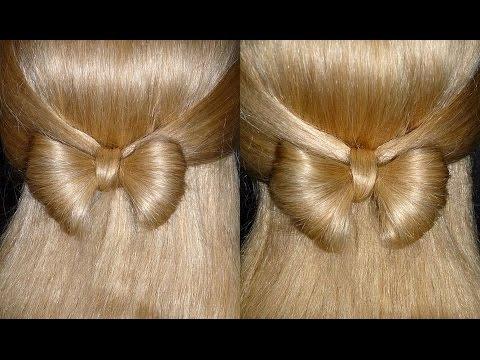 Haarschleife sehr EINFACH.Schleifen Frisur für mittel/lange Haare.Hair Bow Tutorial.Peinados