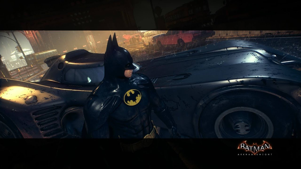 Batman Arkham Knight 1989 Movie Batmobile Pack Gameplay PS4