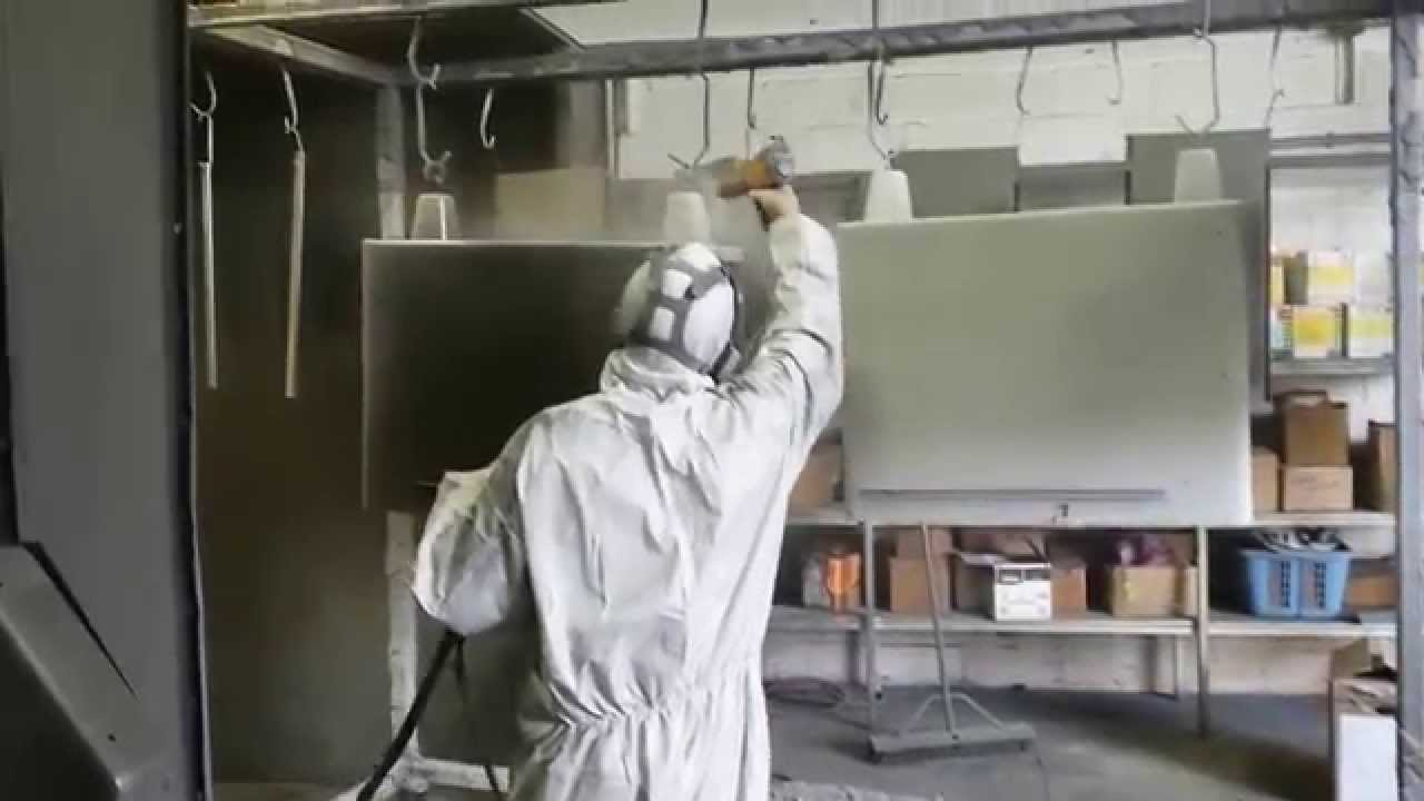 Restoration Of Metal Tanker Desk Clear Powder Coat Painting