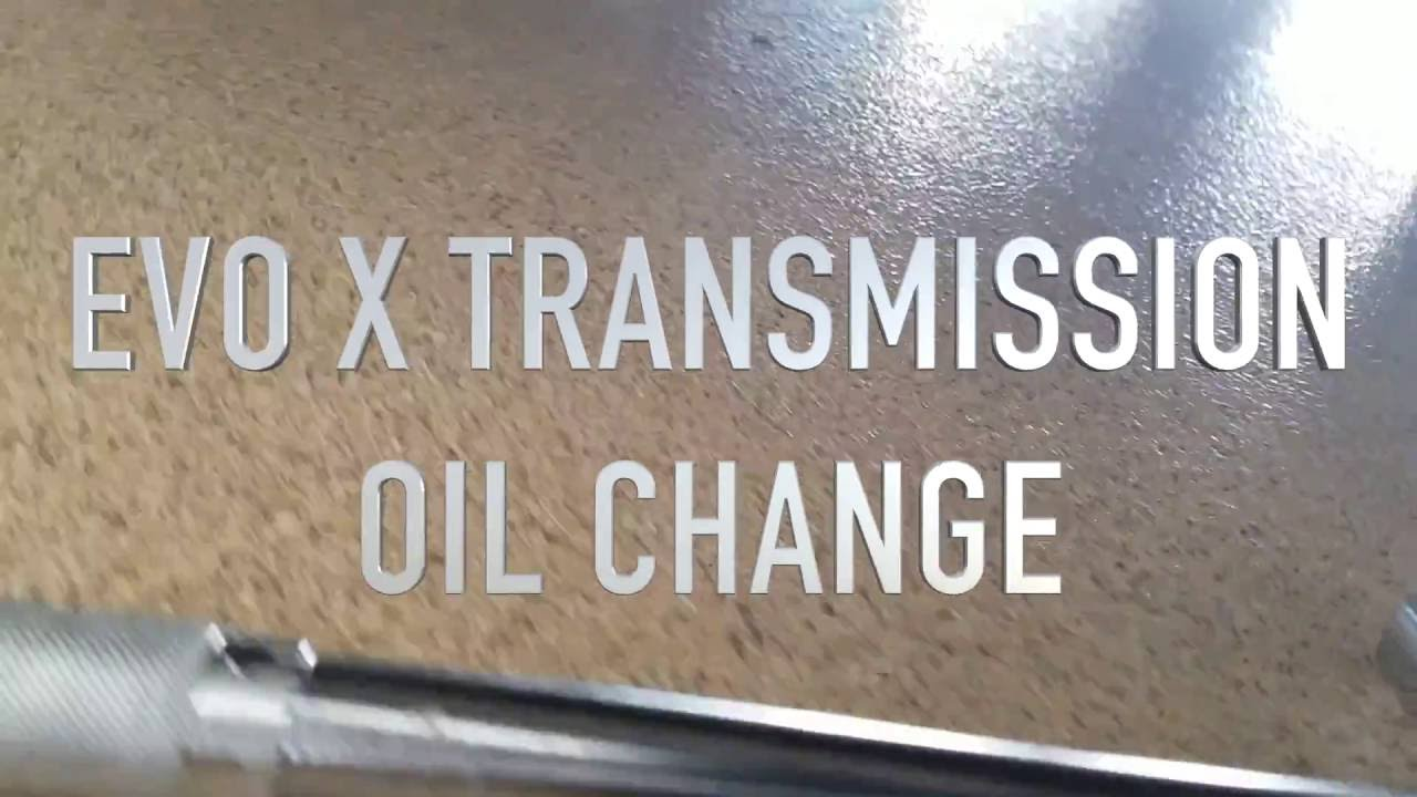 Drop and Fill Evo X transmission fluid  YouTube