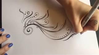 Filigree vine doodle - Nicky Kumar Art