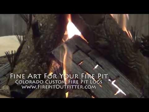 Colorado Custom Fire Pit Steel Logs For Gas