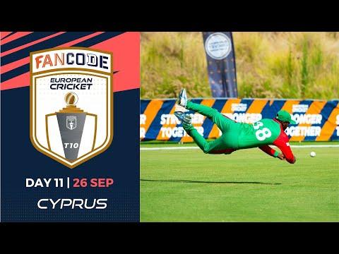 🔴 FanCode European Cricket T10 Cyprus,  Limassol | Day 11 T10 Live Cricket