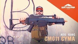 review Teste Airsoft AEG G36C CM011 - Cyma
