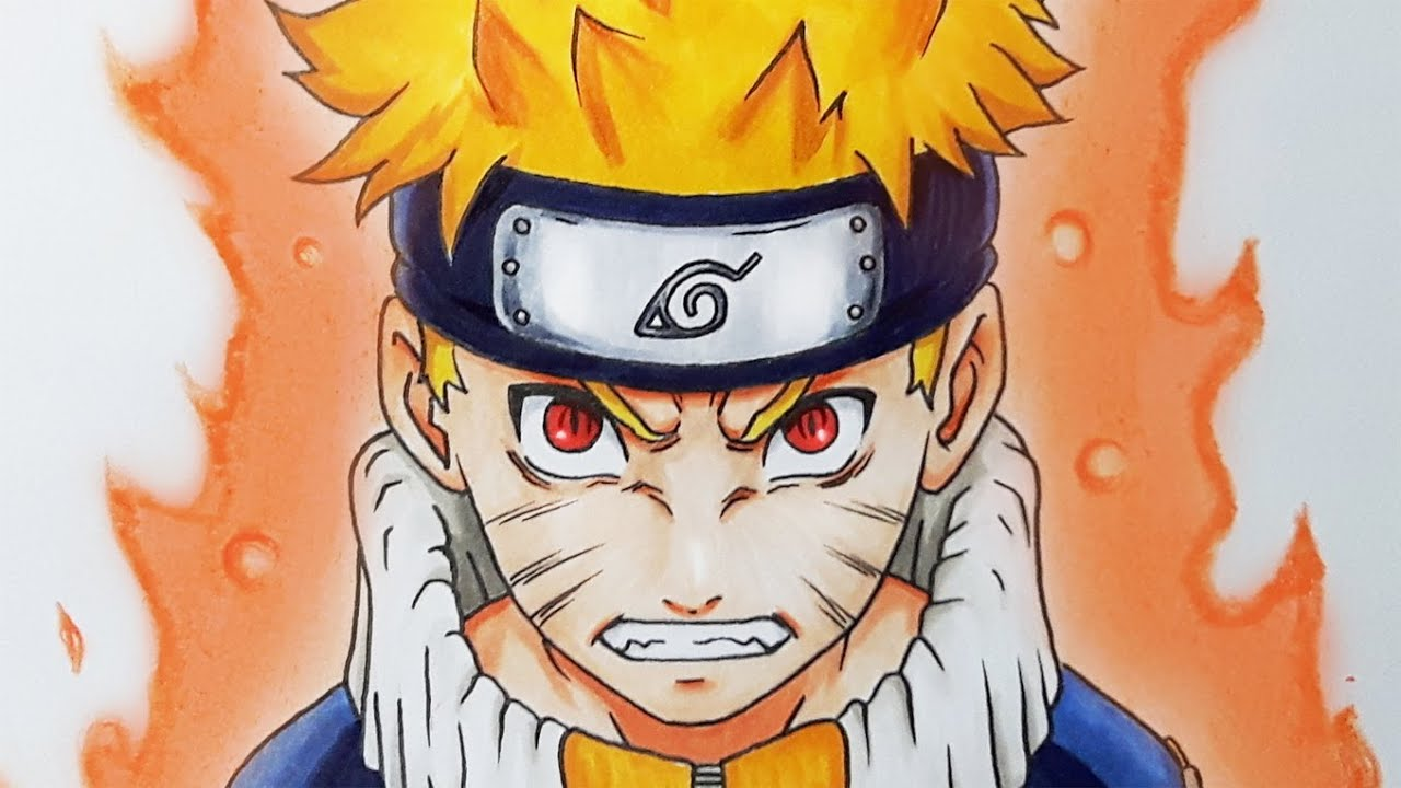 how to draw naruto uzumaki tutorial youtube