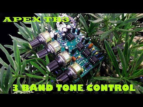 DIY Audio Amplifier APEX TB3| 3 Band Tone Control Circuit | Bass Mid Treble