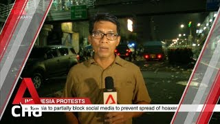 Clashes outside Indonesia's election supervisory agency