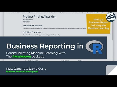 Business Reporting In R With RMarkdown | Learning Lab 06
