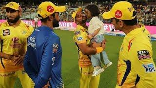 IPL 2019: Ziva Dhoni CSK Win Celebrating Suresh Raina And Imran Tahir's Besting