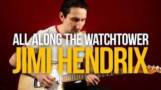 Скачать Как играть All Along The Watchtower Jimi Hendrix Уроки игры на гитаре Первый Лад