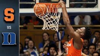 Syracuse vs. Duke Basketball Highlights (2015-16)