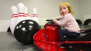 GIANT BOWLING WITH A GO-CART!!!
