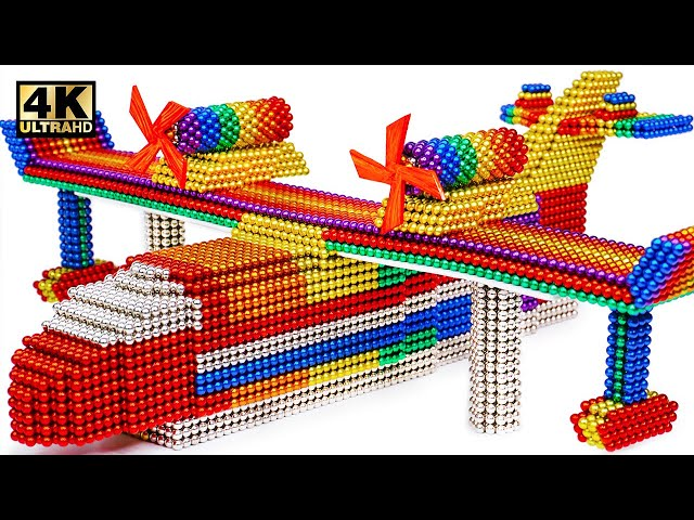 DIY - How To Make Mini Seaplane From Magnetic Balls (Satisfying) | Magnet World Series