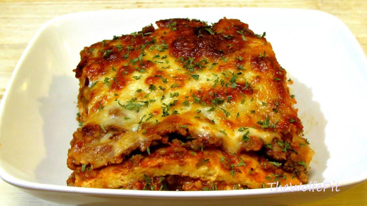 Lasagna Recipe - (Low Carb Recipe) - Noodleless Lasagna - YouTube