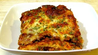 Lasagna Recipe - (Low Carb Recipe) - Noodleless Lasagna