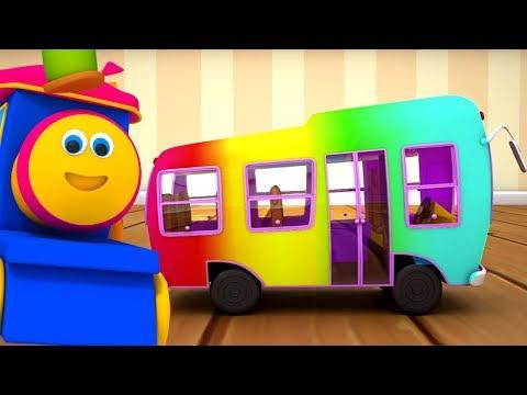 Bob el tren | Las ruedas del autobús | autobús canción | Wheels on The Bus