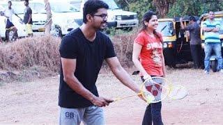 vijay 59 shooting spot ilayathalapathy vijay and atlee playing badminton