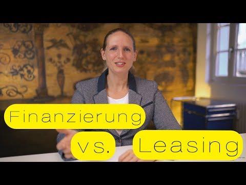 Unterschied zwischen Finanzierung und Leasing