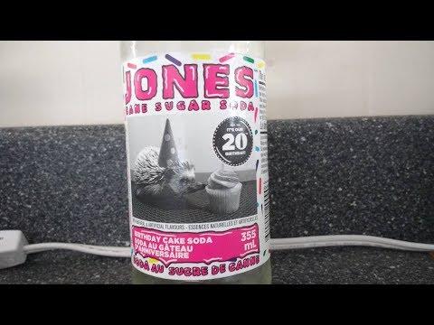 Limited Edition Birthday Cake Cane Sugar Soda | Jones Soda Taste Test