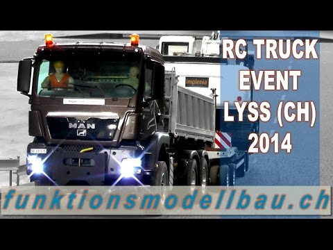 BEST OF RC TRUCKS EVENT - 2nd MINI TRUCK FESTIVAL LYSS, SWITZERLAND 2014, EXCAVATOR,WHEEL LOADER