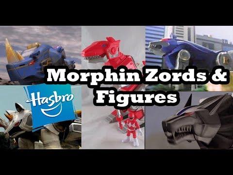 Hasbro Power Rangers Tranforming Zords & Playskool Figures