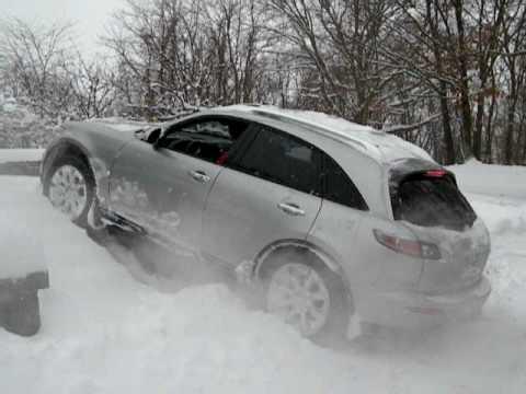 Infiniti Fx45 Snow Youtube