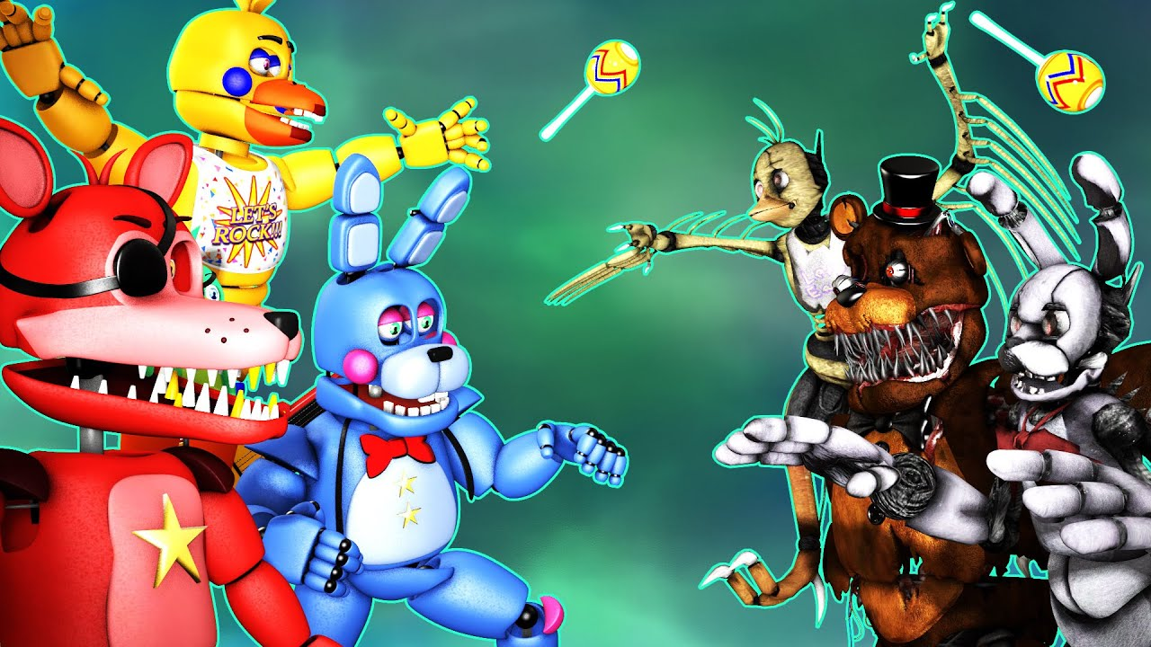 TOP 5 FNAF VS  FIGHT ANIMATIONS