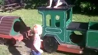 Crazy toddler Rugby and 'Rarty' (as in Karate) party in the park