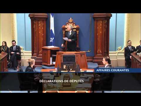 The Quebec National Assembly: Declaration about Michaela Di Cesare