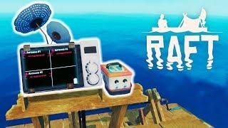 Построили РАДИО и БАТАРЕЙКУ! Выживание в ОКЕАНЕ с Funny Games TV Игра RAFT #9