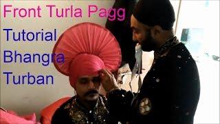 Bhangra Turban | Punjabi Dance Pagdi Tutorial | Learn  Front Turla Pagg | How To Tie Turban