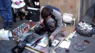 Spray Painting Street Artist - Rome
