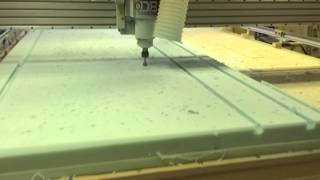 milling pu foam with a carbide burr