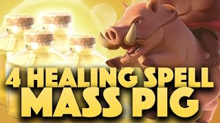 Learn How To 4 Healing Spells With Mass Hog | Easy 3 Star Any TH9 | Clash Of Clans