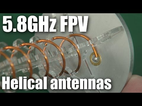 Two 5.8GHz FPV helical antennas compared