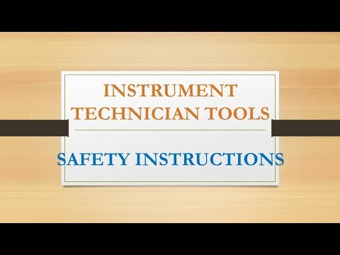 What are the Required Tools  for Instrument Technician??