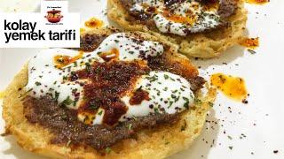 Bazlama Ekmeğinden Mantı Lezzetinde Kolay Yemek Tarifi - Ev Lezzetleri