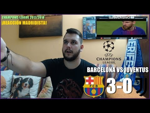 BARCELONA VS JUVENTUS 3-0 | REACCION | HIGHLIGHTS | CHAMPIONS LEAGUE