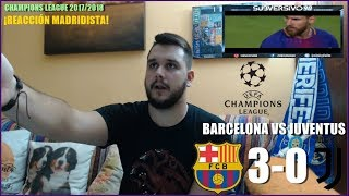BARCELONA VS JUVENTUS 3-0 | REACCION | HIGHLIGHTS | CHAMPIONS LEAGUE