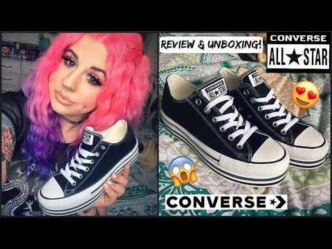 CONVERSE ALL STAR PLATFORMS! | REVIEW & UNBOXING! ❤