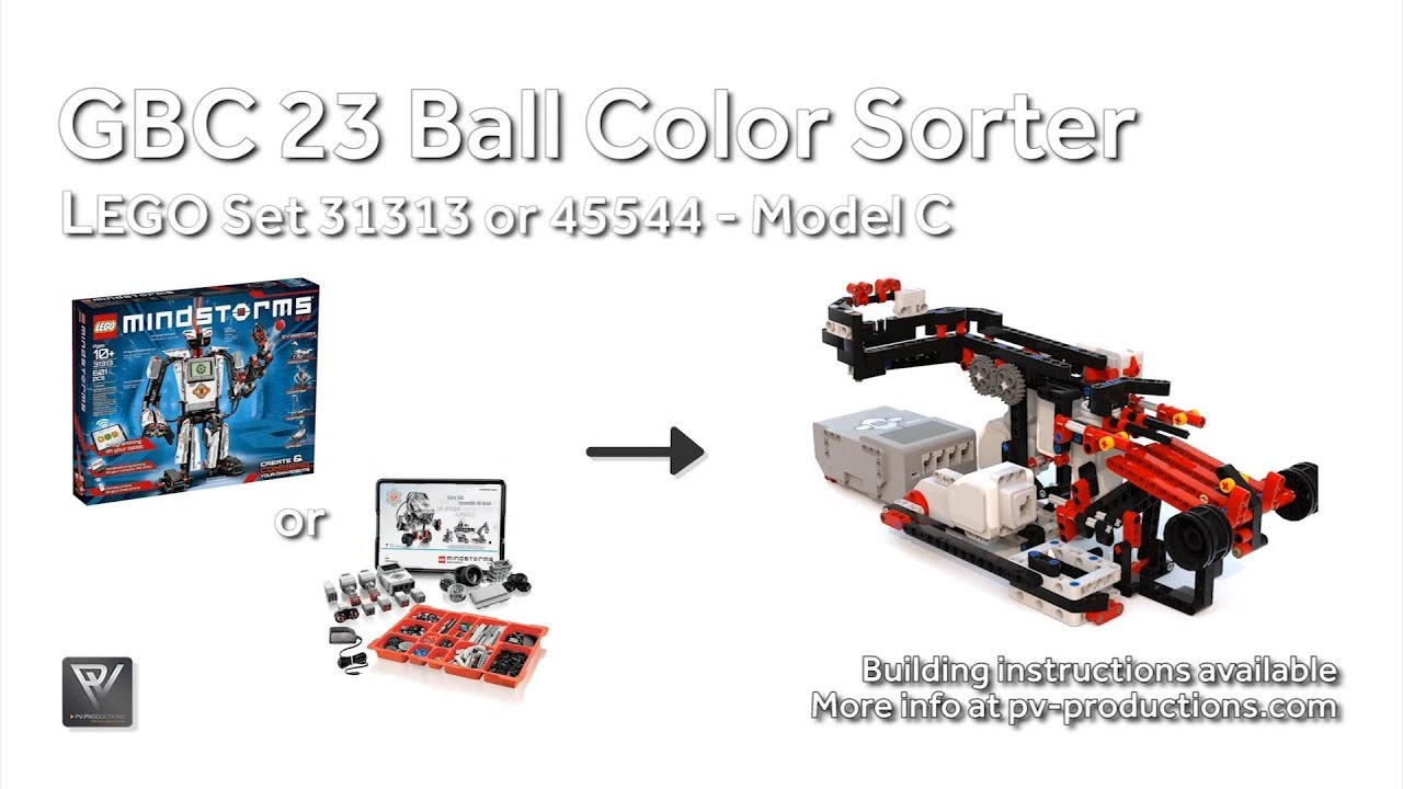 GBC 23 Ball Color Sorter - 31313 or 45544 Building Instructions