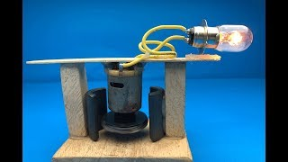 Free Energy  Technology For 2019 // DC motor Using  Magnet with Light Bulb